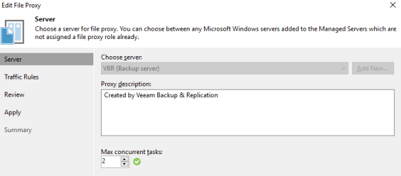 Use PowerShell to set the Max Concurrent Tasks in Veeam