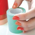 Patriotic Washi Tape Nail Art