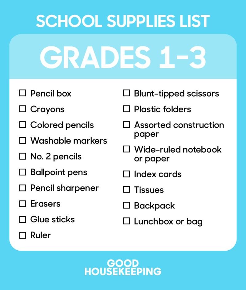 Grades 1-3 checklist