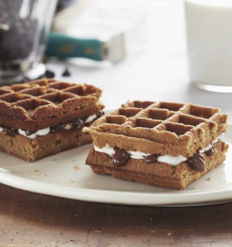 waffled s'mores