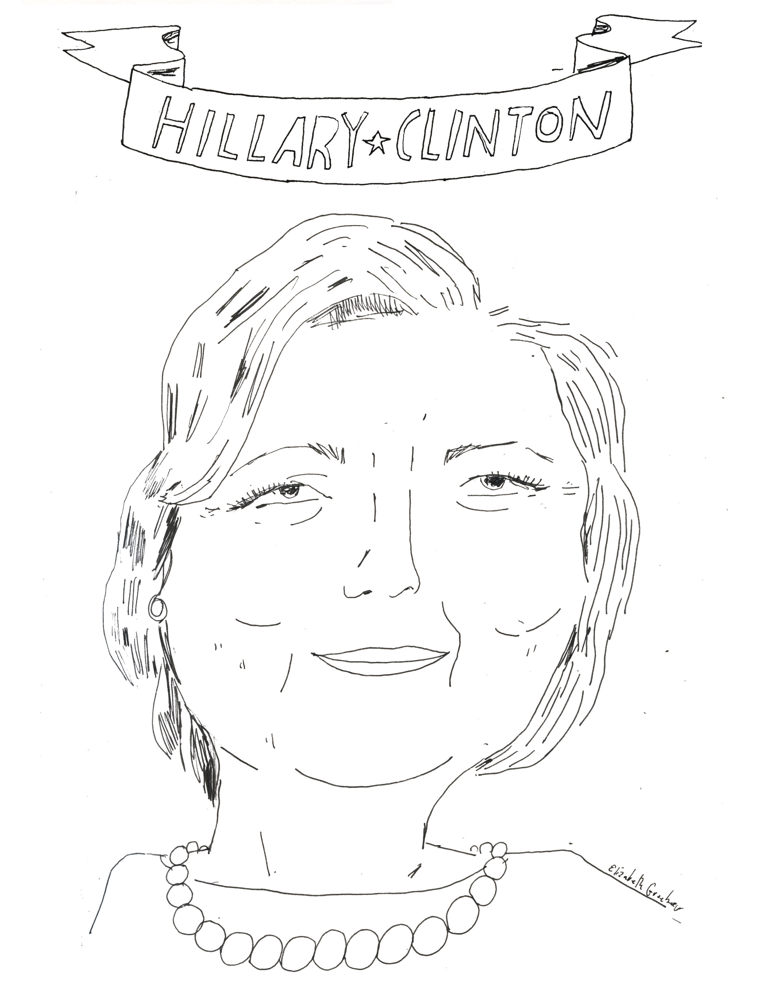 Color Your #BossBabes: Happy Birthday, Hillary Clinton