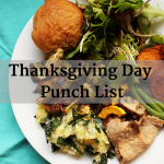 Thanksgiving Day Punch List