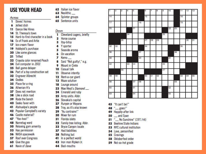 image relating to Washington Post Crossword Puzzle Printable referred to as 10-Second Mensa Crossword - Workman Putting up