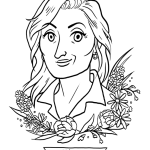 Meryl Streep Coloring Activity