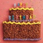 Crispy Rice Birthday Cake