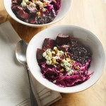 Forbidden Rice Bowl with Beets and Goat Cheese–Dill Vinaigrette