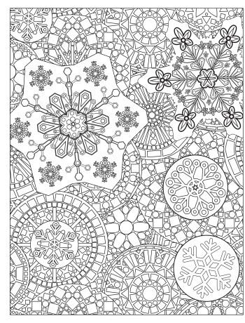 winter coloring activities