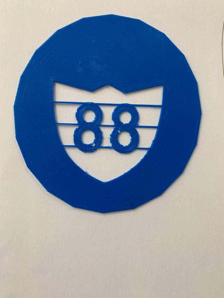 3D Printed Workshop 88 Cookie Stencil