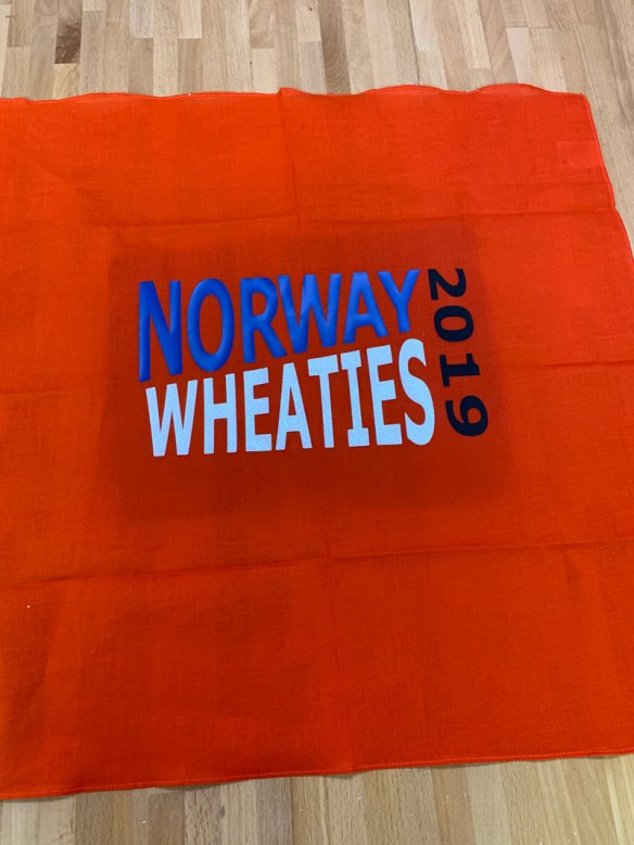 Norway Wheaties 2019 Orange Bandanna