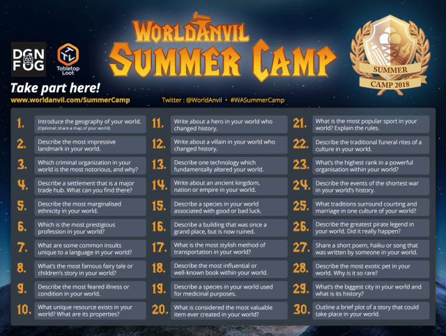 #WASummerCamp 30 Day Challenge