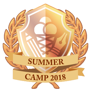Summer Camp prize winner gold badge