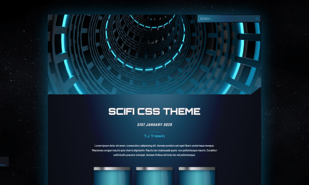 Set lazors to Sizzle! We got a new Science Fiction theme!