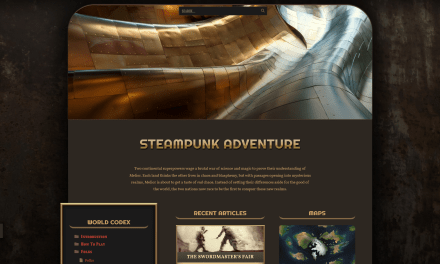 Our new Steampunk Theme on World Anvil!