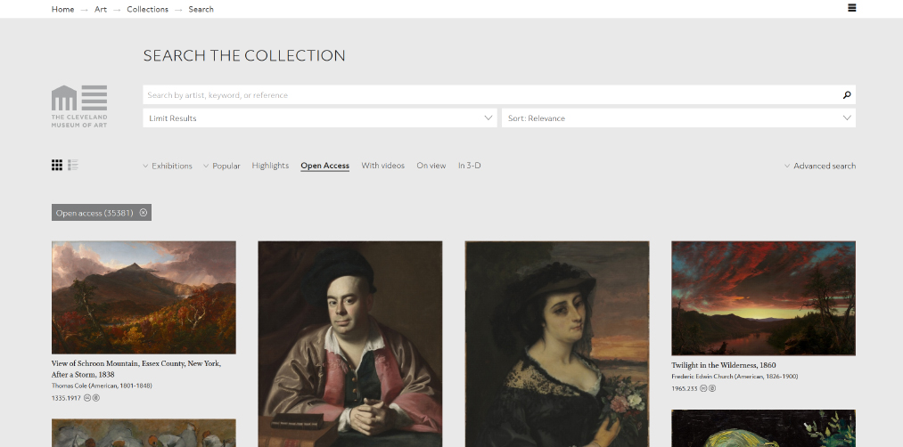 Cleveland Museum of Art screenshot