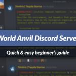 Beginner's guide to the World Anvil Discord server