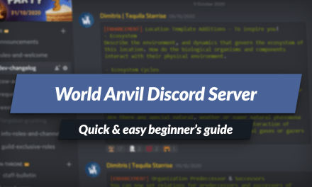 Beginner's guide to the World Anvil Discord server