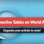 Interactive tables: organize your articles in style!