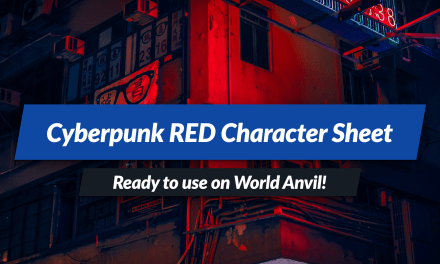 Cyberpunk RED character manager: ready to use on World Anvil!