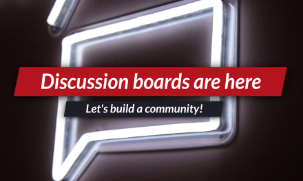 Discussion boards are here!