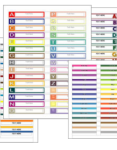 medical chart labels alphabet www