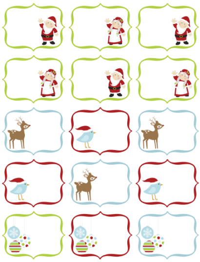free christmas labels by