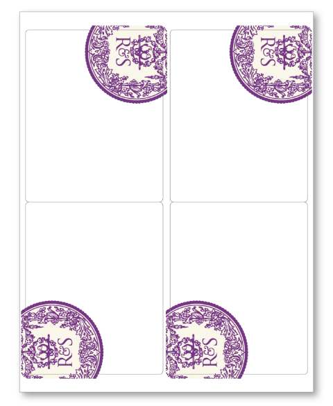 wedding labels in a