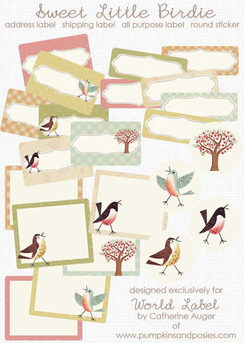 Sweet Birds Address Shipping Amp Round Labels Free Printable Labels Amp Templates Label Design