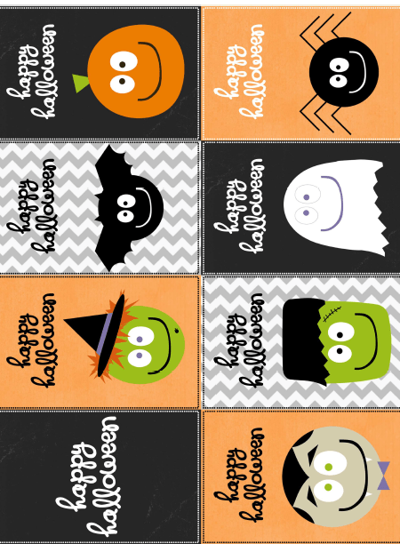 free halloween stickers labels