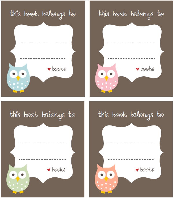 Decorator S Notebook Blog: Free Bookplate Label Template