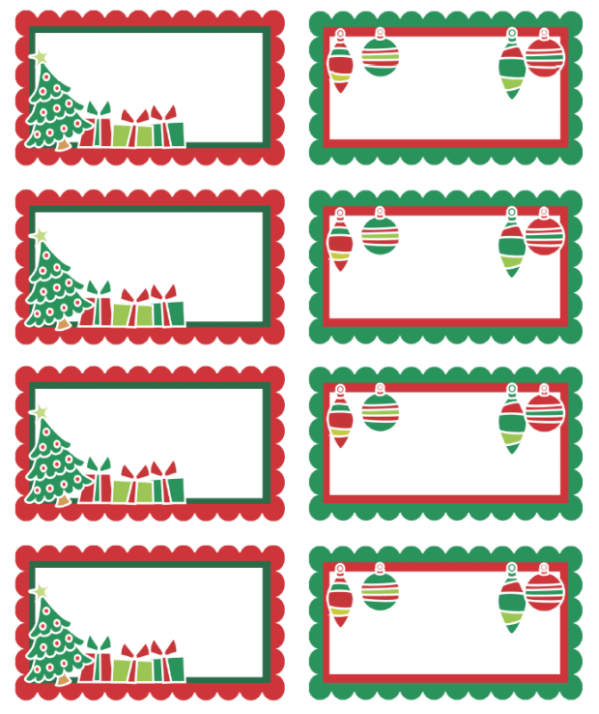 Christmas Labels Ready to Print! Free printable labels