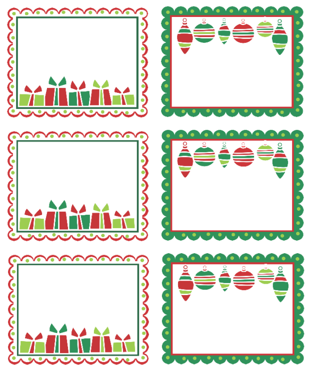 christmas labels ready to
