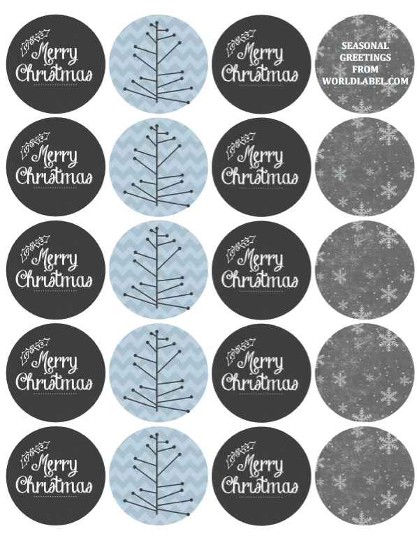Merry Christmas Holiday Labels By Catherine Auger Worldlabel Blog
