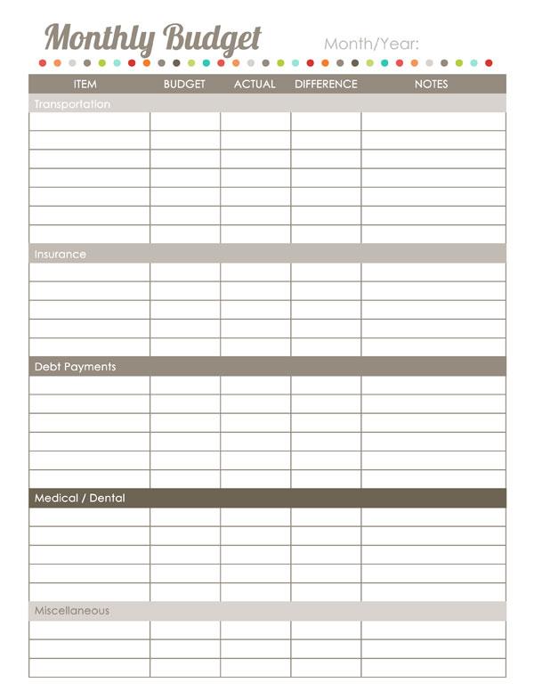 Home Finance Printables: The Harmonized House Project   Worldlabel Blog