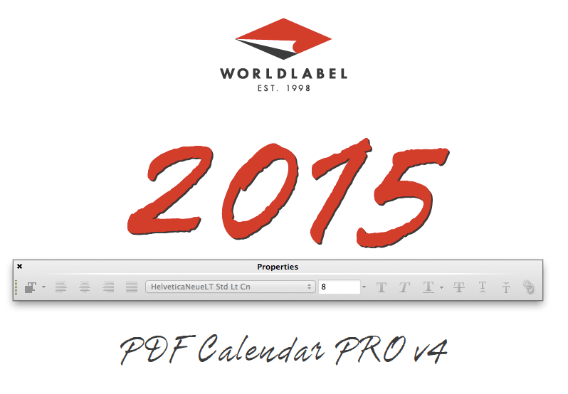 Free 2015 calendars that you can download, customize, and print. 2015 Editable Fillable Pdf Calendar Template From Worldlabel Free Printable Labels Templates Label Design Worldlabel Blog