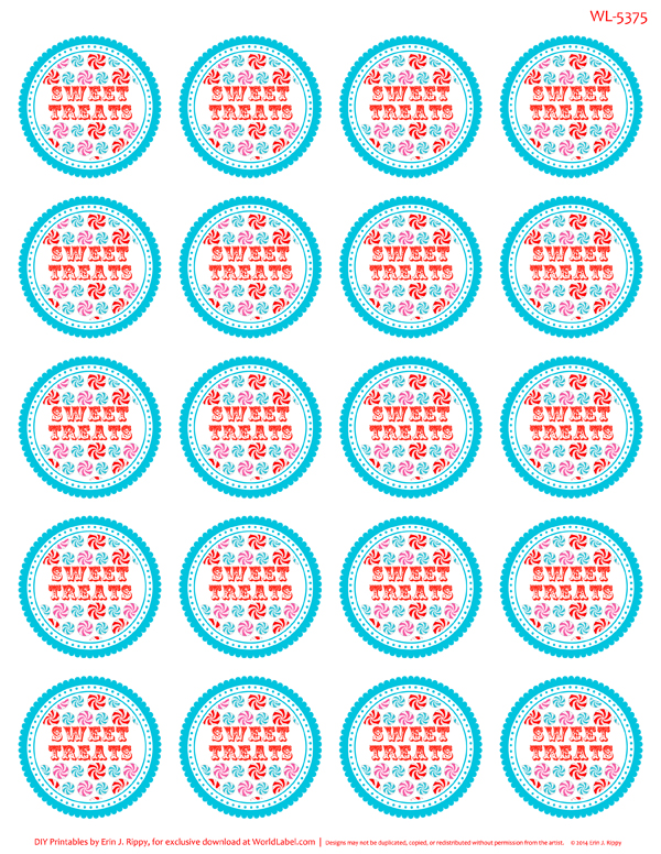Peppermint Please Christmas Printable Labels Amp Tags Worldlabel Blog
