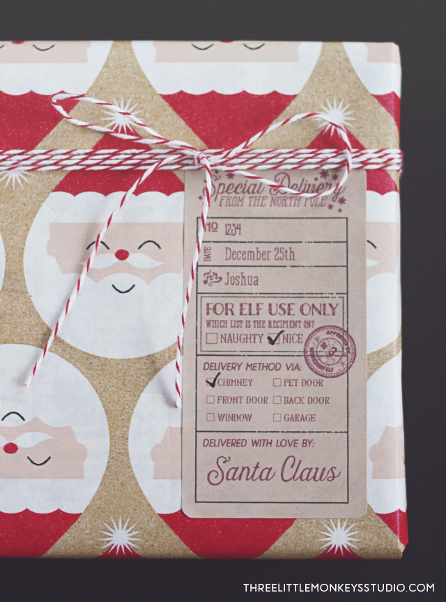 Santas Special Delivery Gift Label Tags  Free printable labels  templates label design