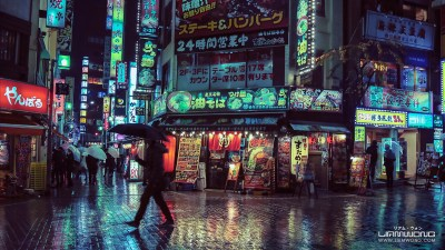 Liam Wong, the Tokyo night filled with neon