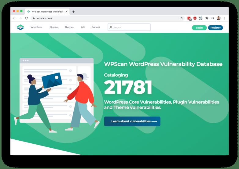 WPScan new website screenshot