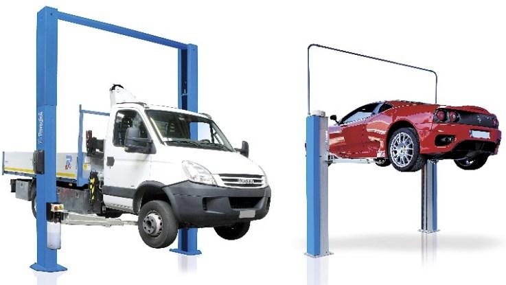 Hydraulik Hebebühne mit Transporter und Spindel Hebebühne mit Auto