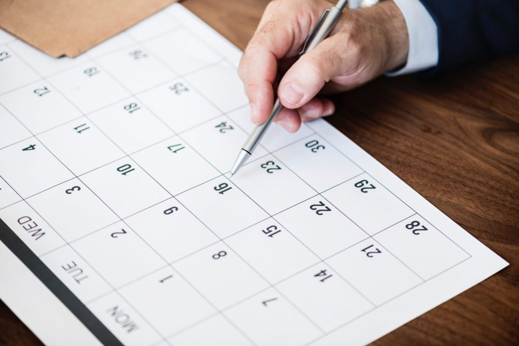How to meet deadlines set date calendar