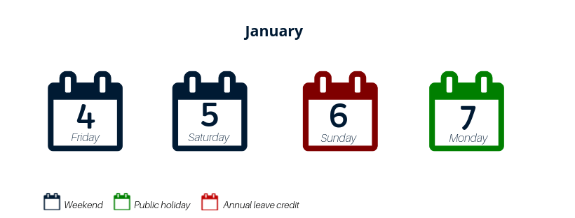 annual leave credit jan