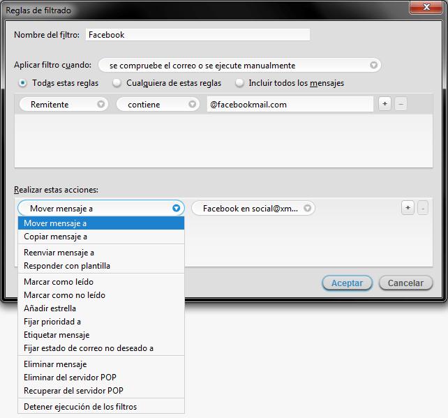 Cómo Configurar Filtros De Mensajes En Mozilla Thunderbird