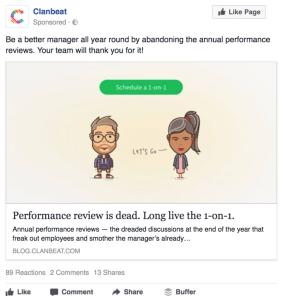 Saas Facebook Ad Example