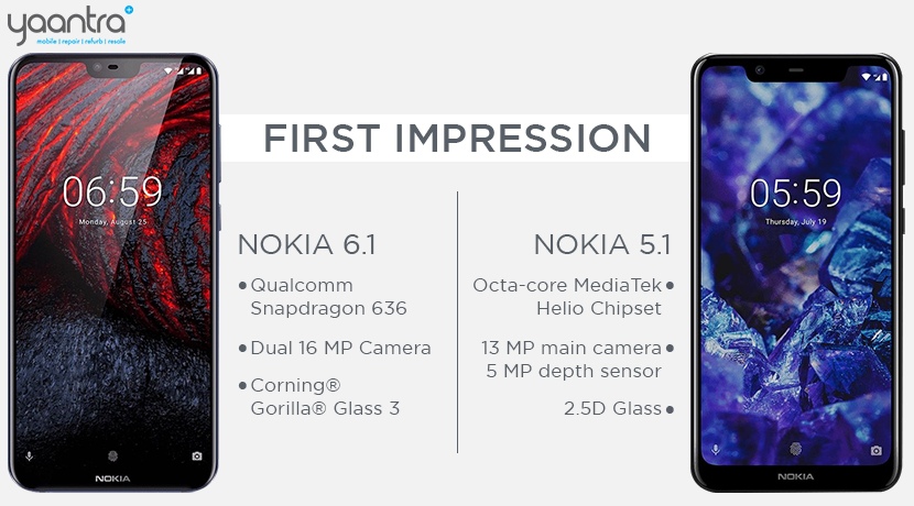 NOKIA 6.1 & NOKIA 5.1 First Impression