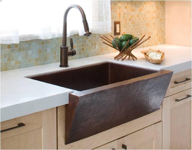 farm sinks for kitchens kitchen tile countertops vs undermount sizes prices copper sink