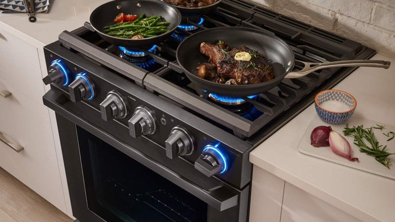 The Samsung Chef Collection Professional Gas Range Nx58m9960pm Reviews Ratings Prices
