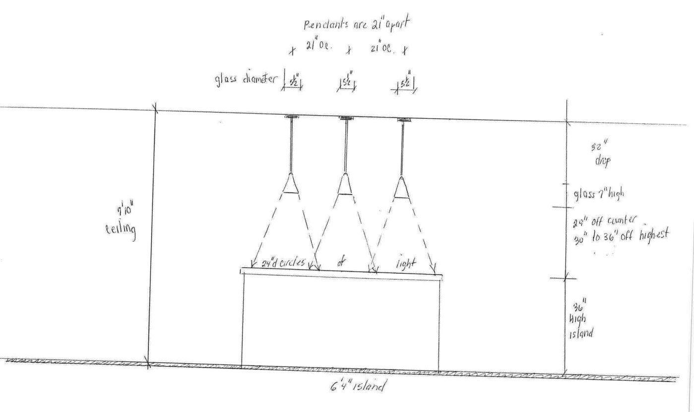 hight resolution of three kitchen pendant lighting diagram jpg