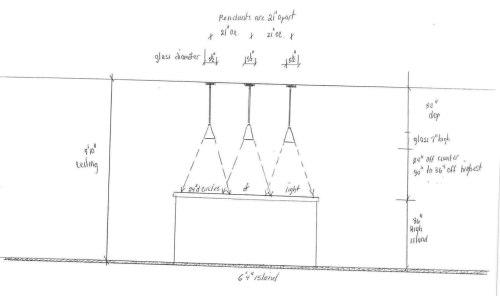 small resolution of three kitchen pendant lighting diagram jpg