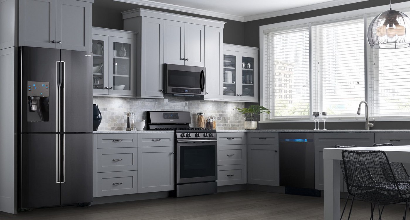 Countertop Options And Prices Kitchenaid Vs Samsung Black Stainless Steel Appliances