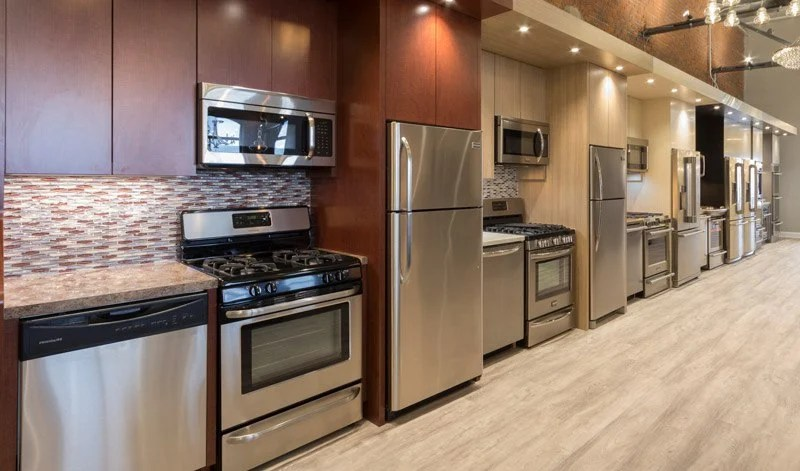 kitchen appliance suites green appliances jenn air vs bosch stainless packages reviews package display at yale